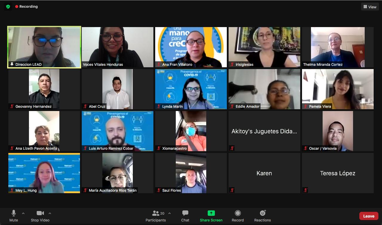 Voces Vitales Honduras y Walmart gradúan a 11 empresarios