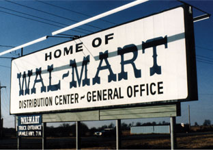 Walmart home office sign early history
