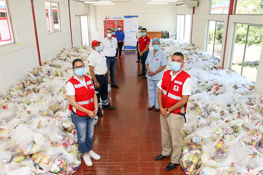 Walmart Centroamérica dona 54 mil libras en alimentos a la Cruz Roja Nicaragüense