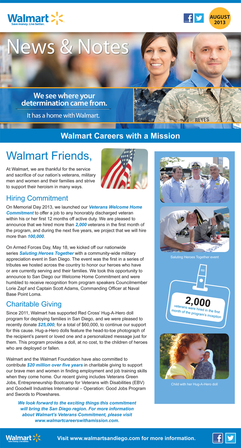 Walmart San Diego Careers with a Mission screenshot