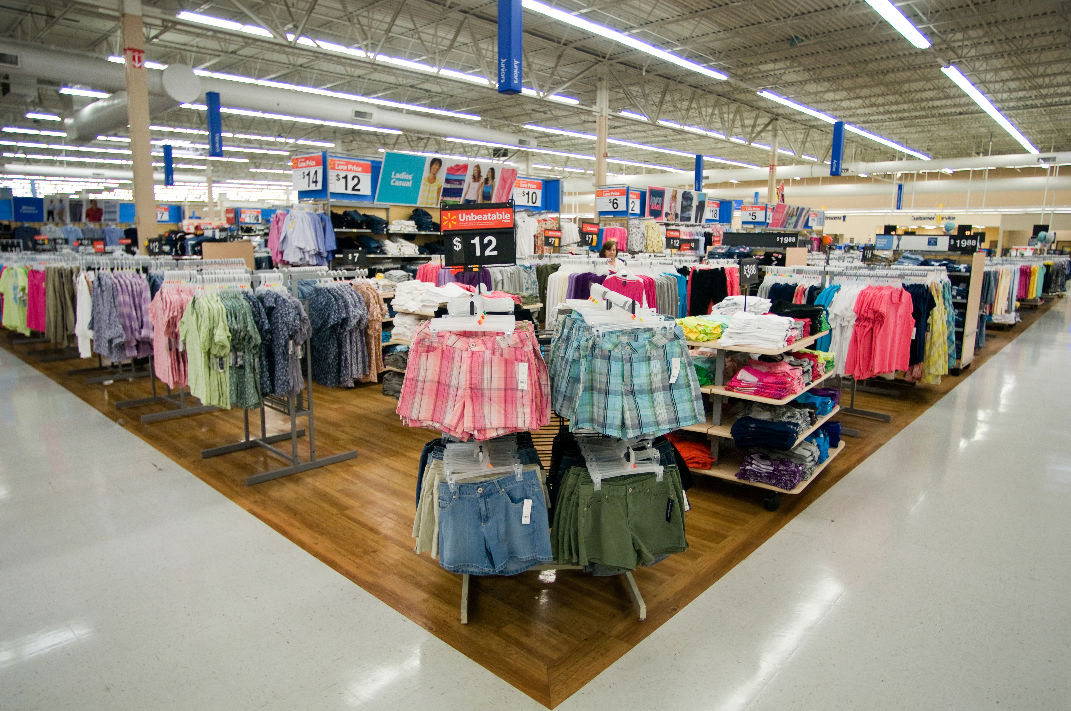 How can apparel retailers compete with wal mart