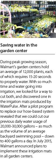 Saving Water in the Garden Center Callout