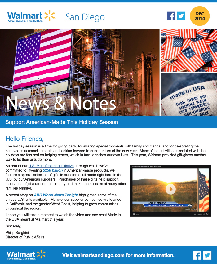 Walmart San Diego News & Notes screenshot