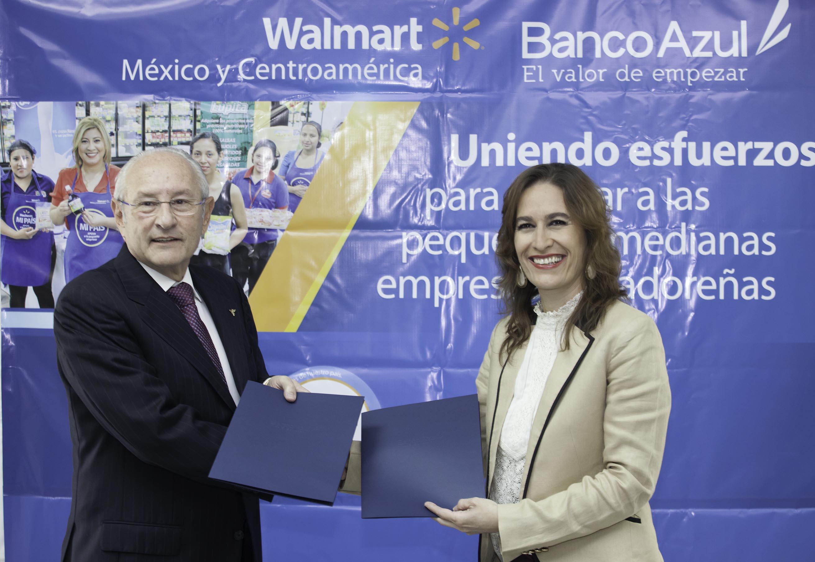 Walmart El Salvador y Banco Azul firman convenio de cooperación  en beneficio de las Pymes salvadoreñas