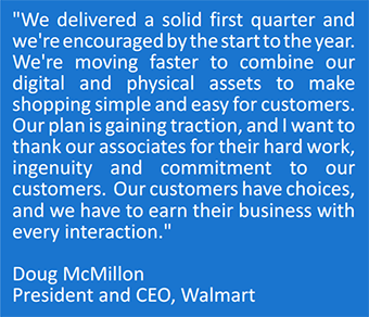 Doug McMillon outlines his thoughts on last quarter's performance