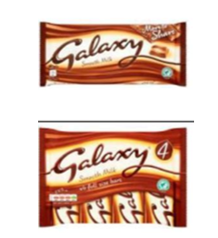 Galaxy Milk 200g Bar & Galaxy Milk 4x42g Multipack Bars