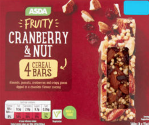 Cranberry & Nut Cereal Bars Product Recall