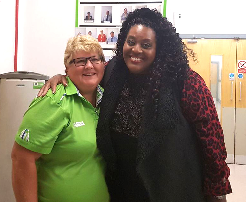 This Morning presenter Alison Hammond at Asda Nuneaton