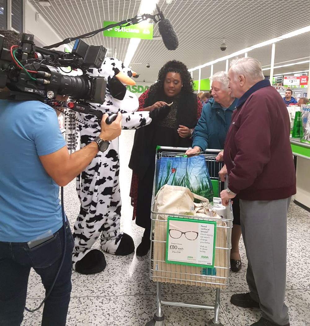 Filming at Asda Nuneaton