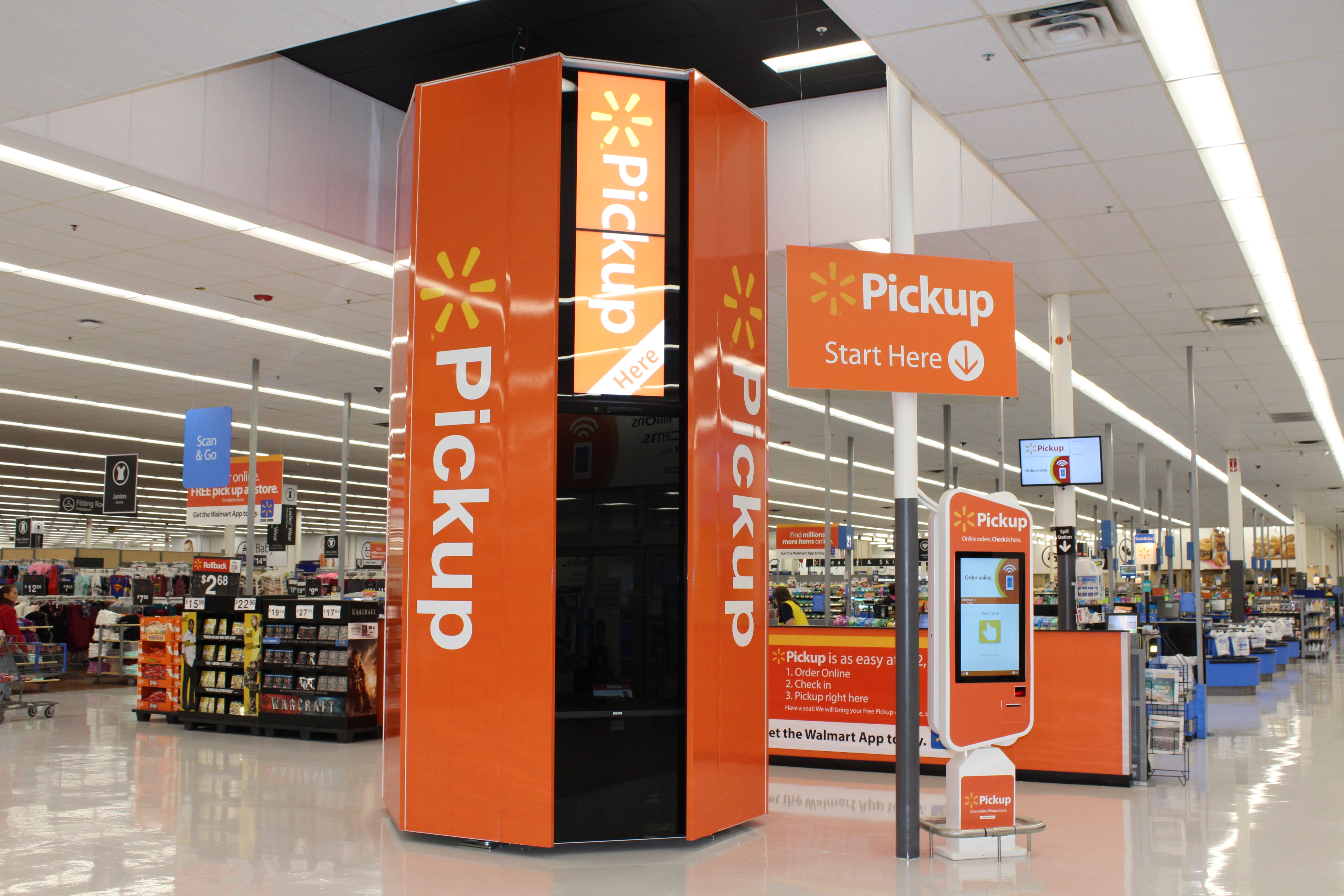 Pickup Towers can accommodate any item smaller than a medium-sized microwave.