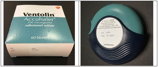Ventolin Accuhaler LOT 786G and 754P