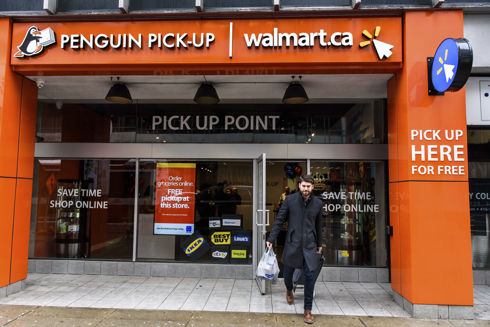 Walmart Canada - Walmart Penguin Pick-Up Zone in Toronto