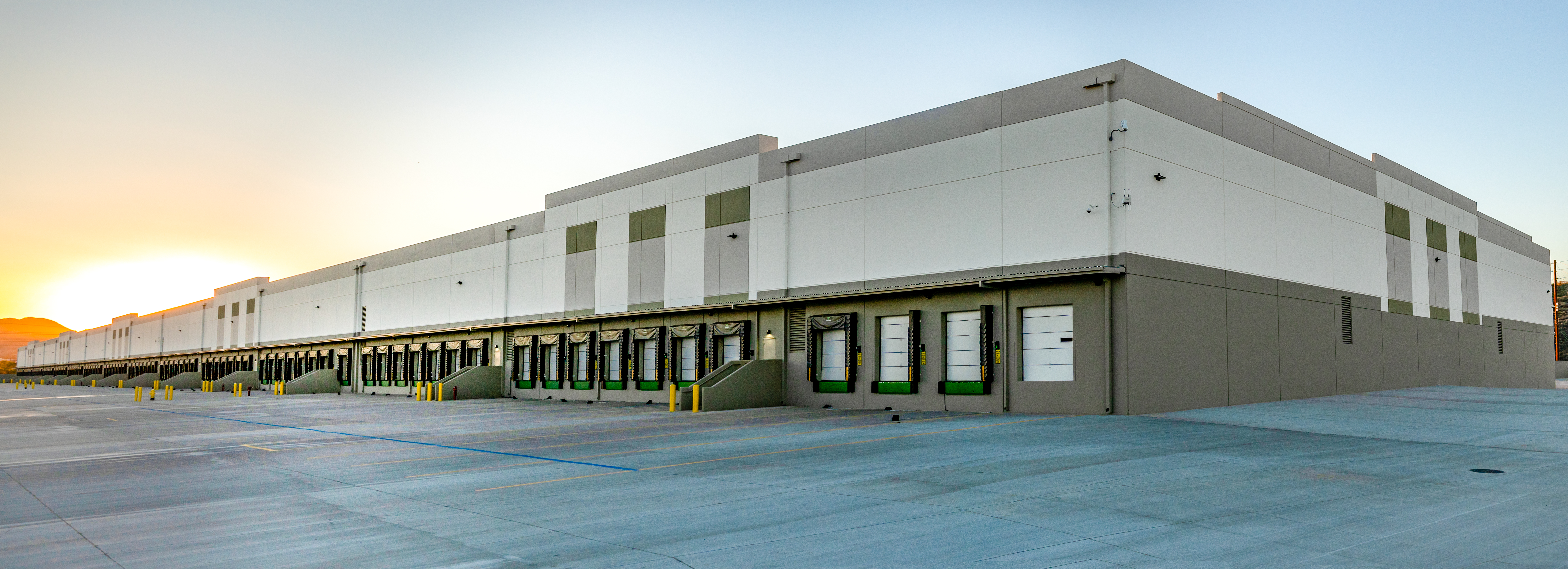 The rear exterior of the new Walmart automated consolidation center in Colton, California