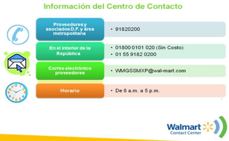Centro de Contacto Aclaraciones de Pago