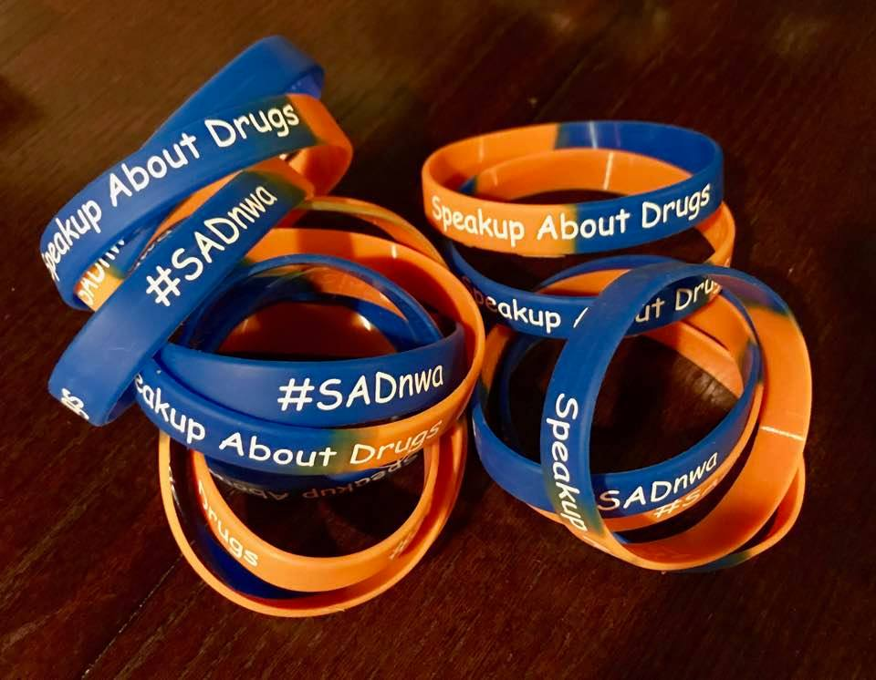 Speakup about Drugs Wristbands