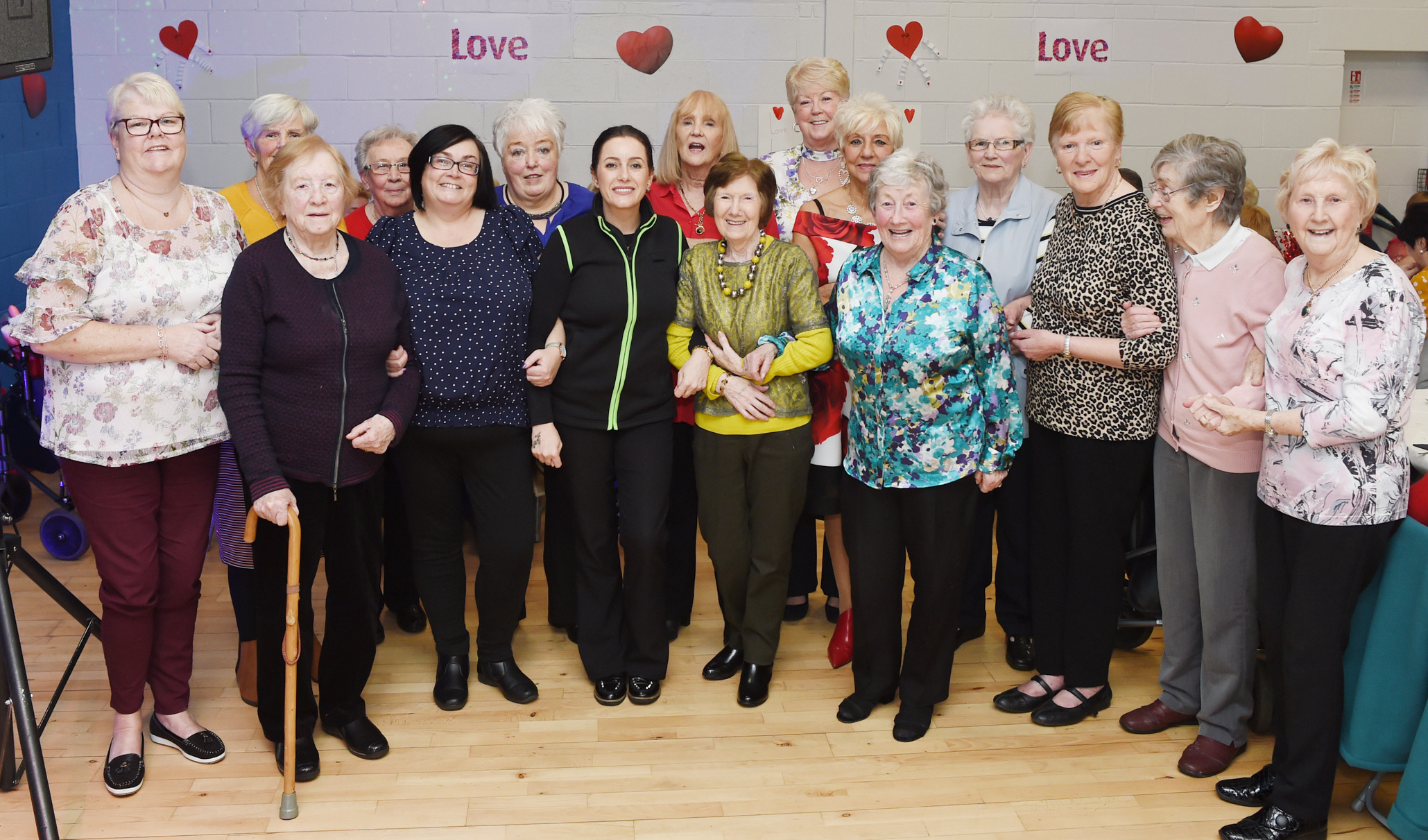 Asda Belfast Westwood community champion Noeleen McMahon at the Valentine's party