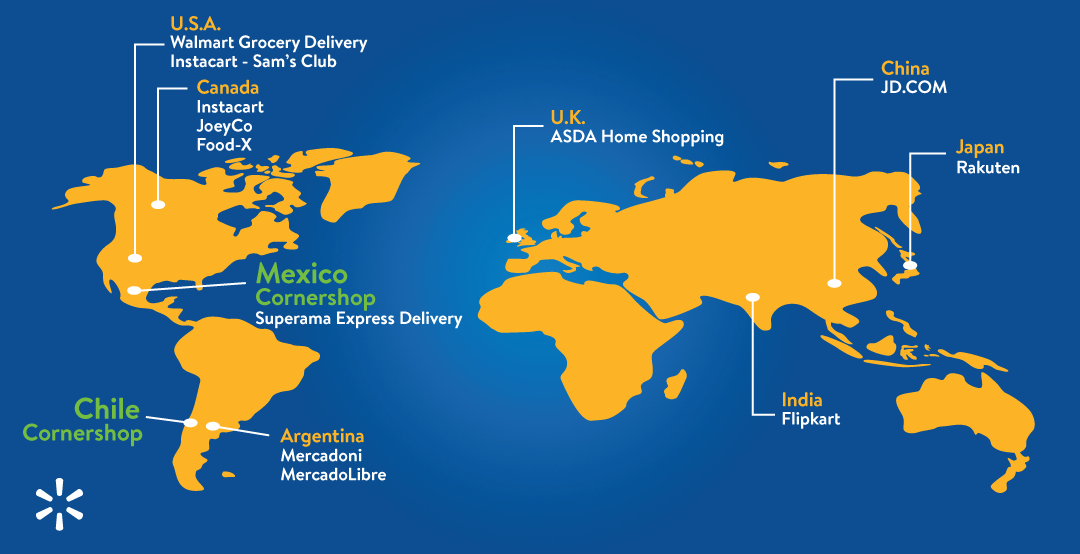 Walmart To Acquire Cornershop In Mexico And Chile