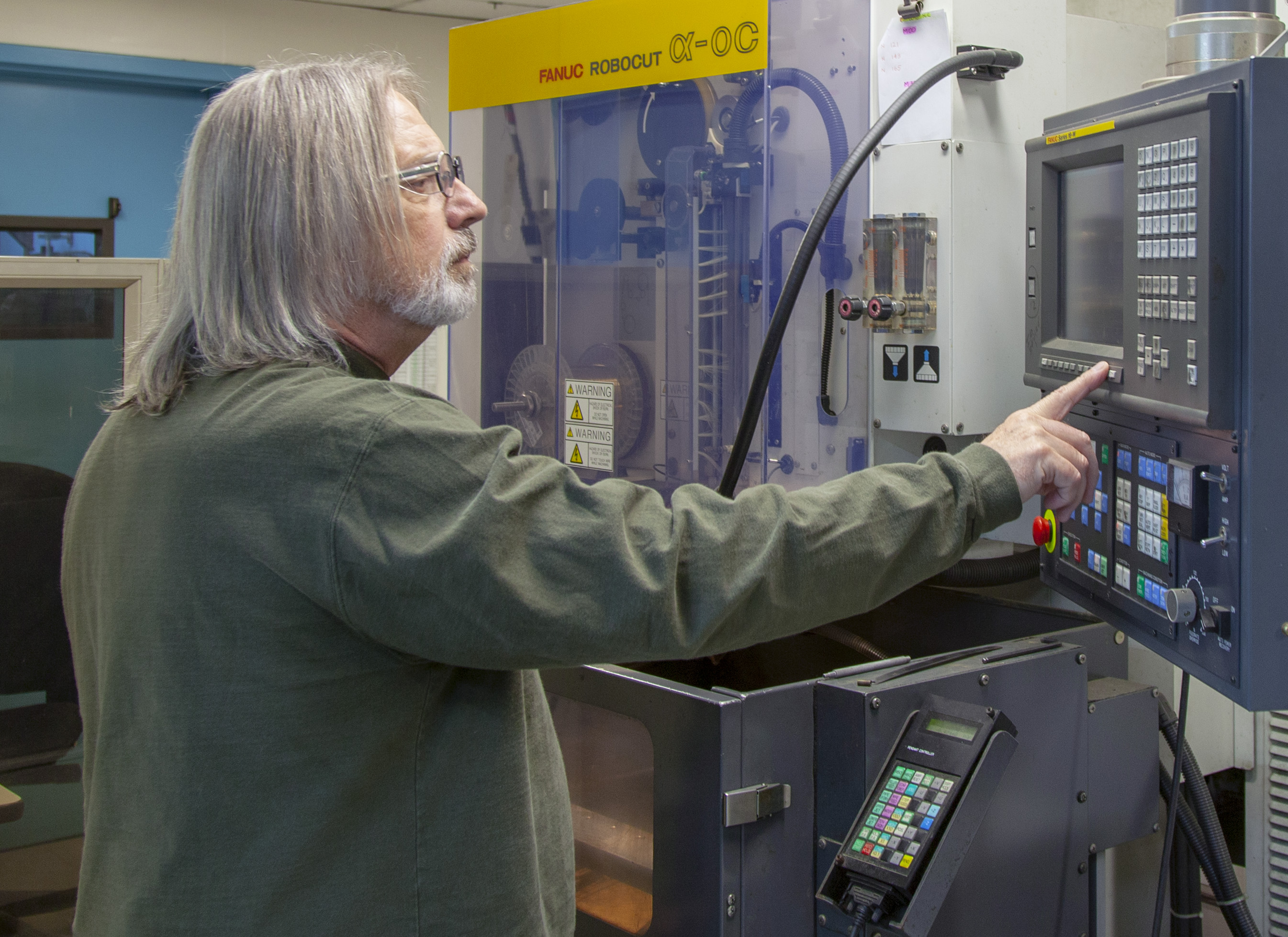 Gary Sundin, lead toolmaker at the Kenney Manufacturing facility in Warwick, Rhode Island