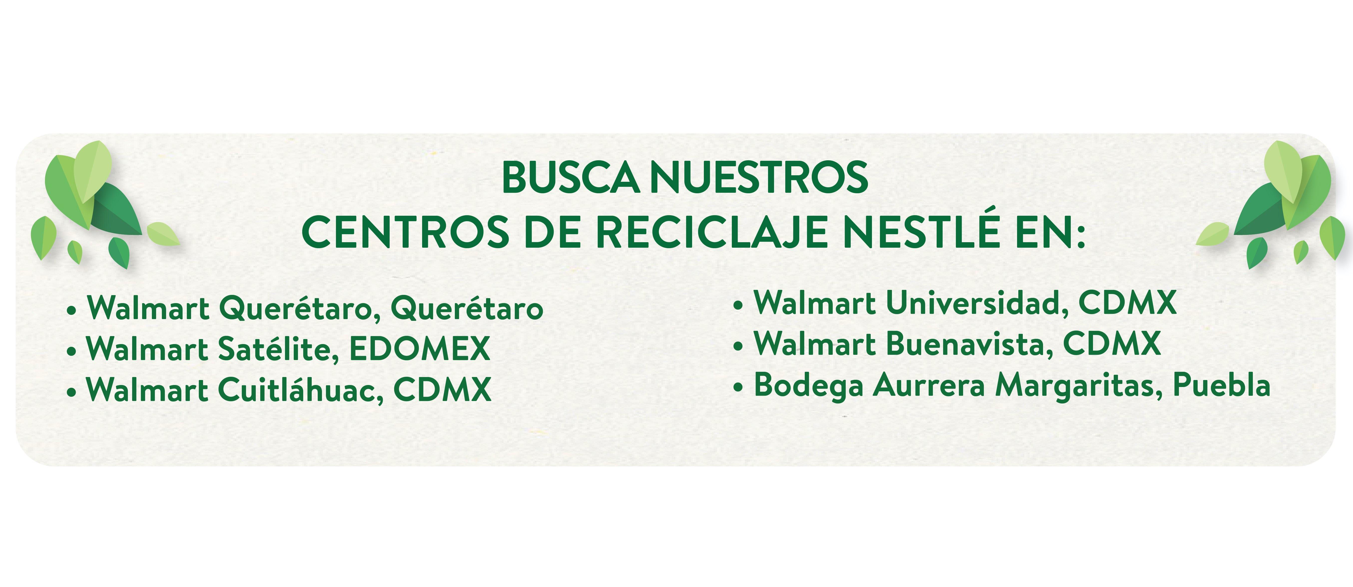 Centros de Reciclaje Nestlé 2020