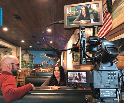 Behind the scenes of Amanda Whitehurst's interview