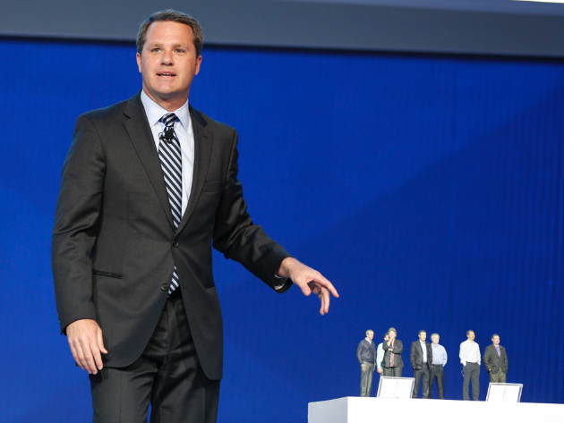 Doug McMillon with 3D Printed Executives