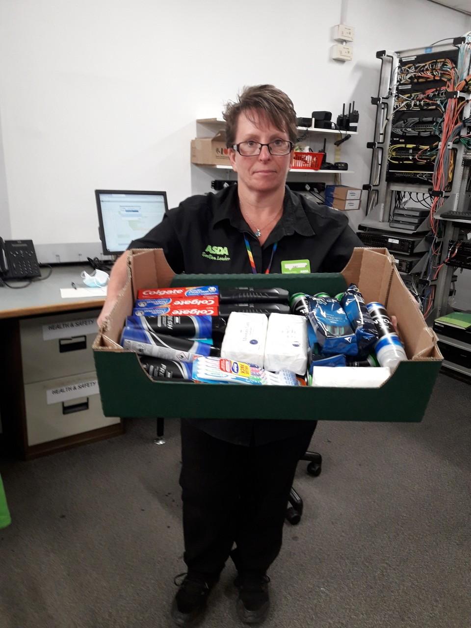 Asda Taunton donates toiletries to homeless shelter | Asda Taunton