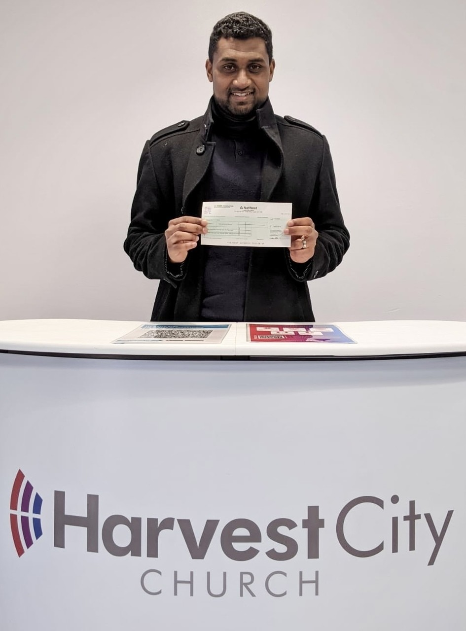 Cheque for Harvest City Church | Asda Leicester Abbey Lane