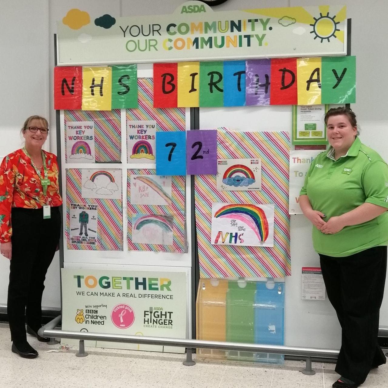 Happy 72nd birthday NHS | Asda Skelmersdale