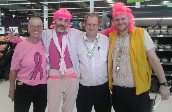 Asda Milton Keynes colleagues Tickled Pink