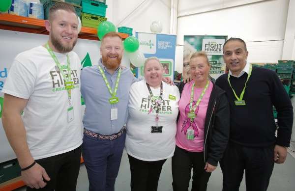 Asda colleagues at the new FareShare warehouse in Leeds