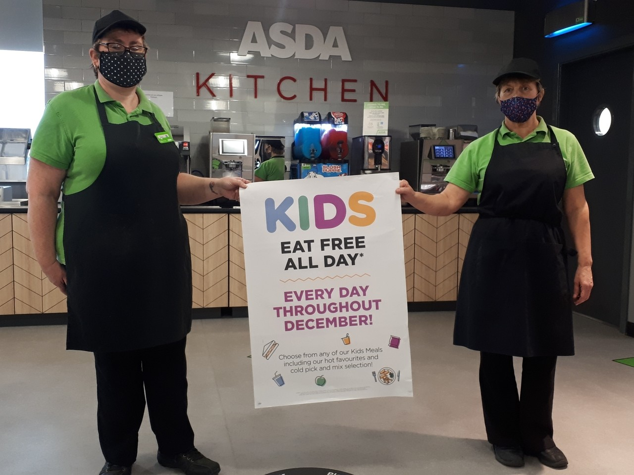 Kids eat free at our cafe | Asda Boston