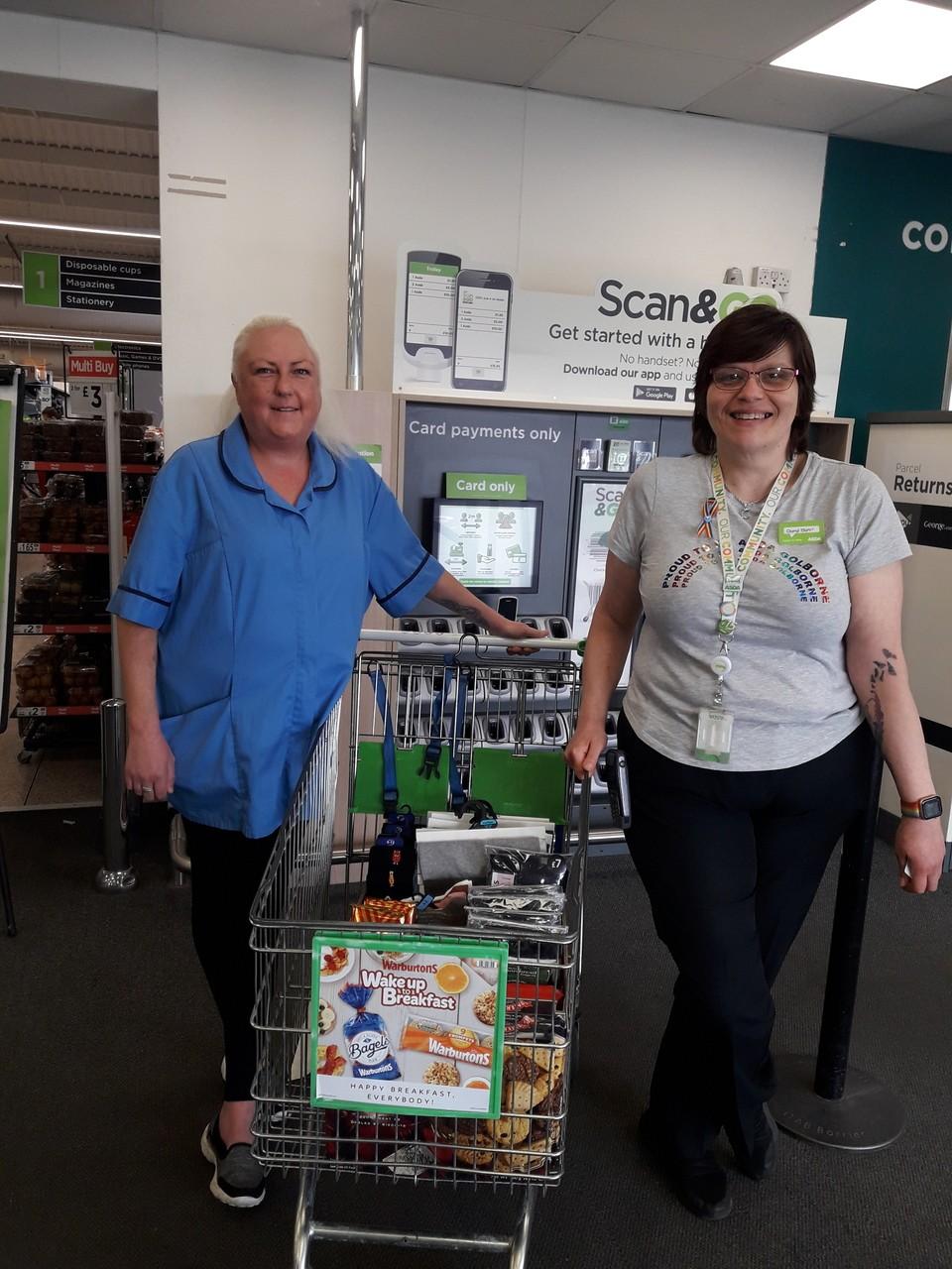 Donation to Golborne House | Asda Golborne