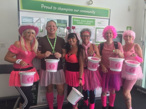 Asda Sittingbourne colleagues supporting Tickled Pink