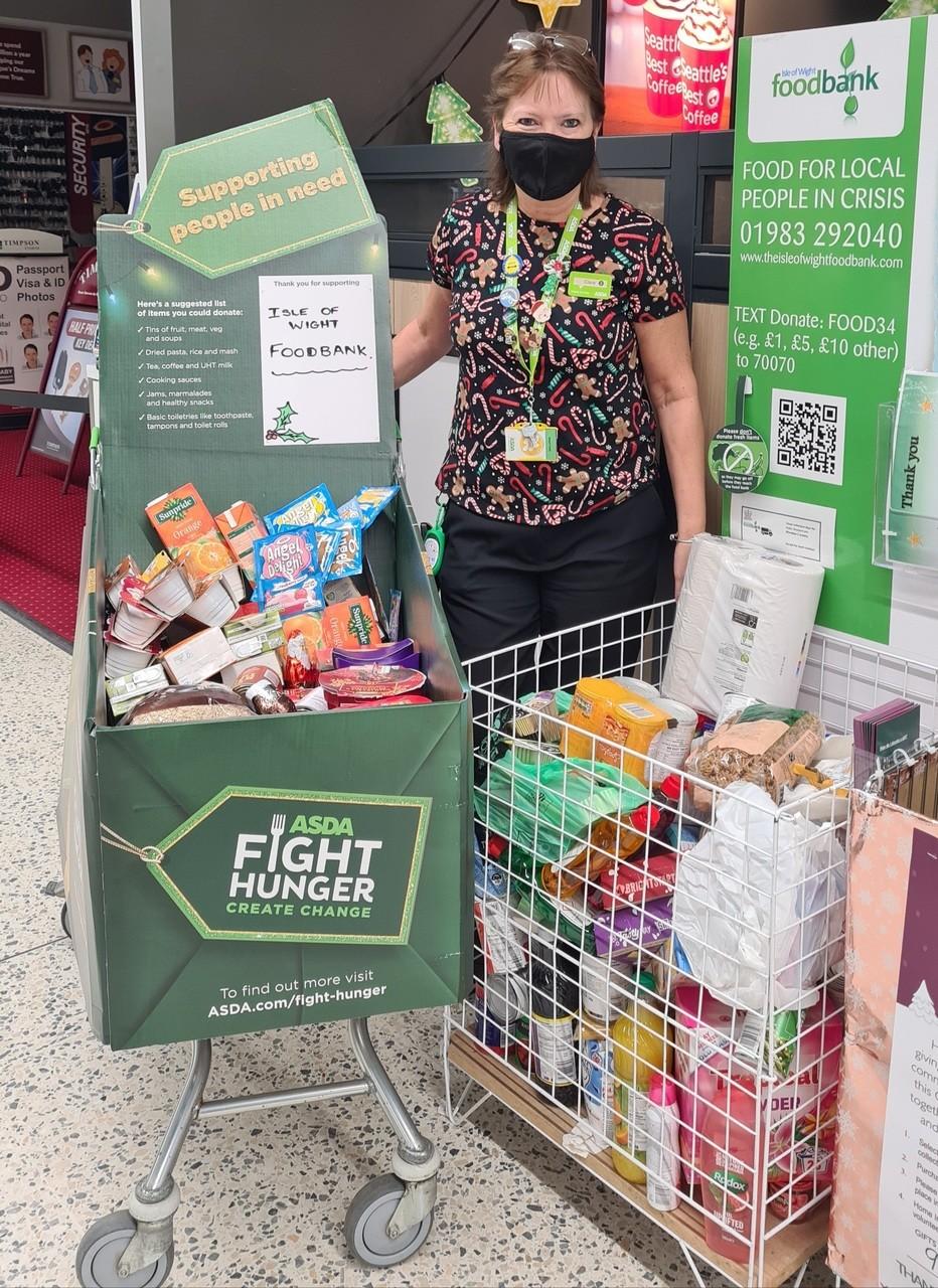 Foodbank donations | Asda Newport Isle of Wight