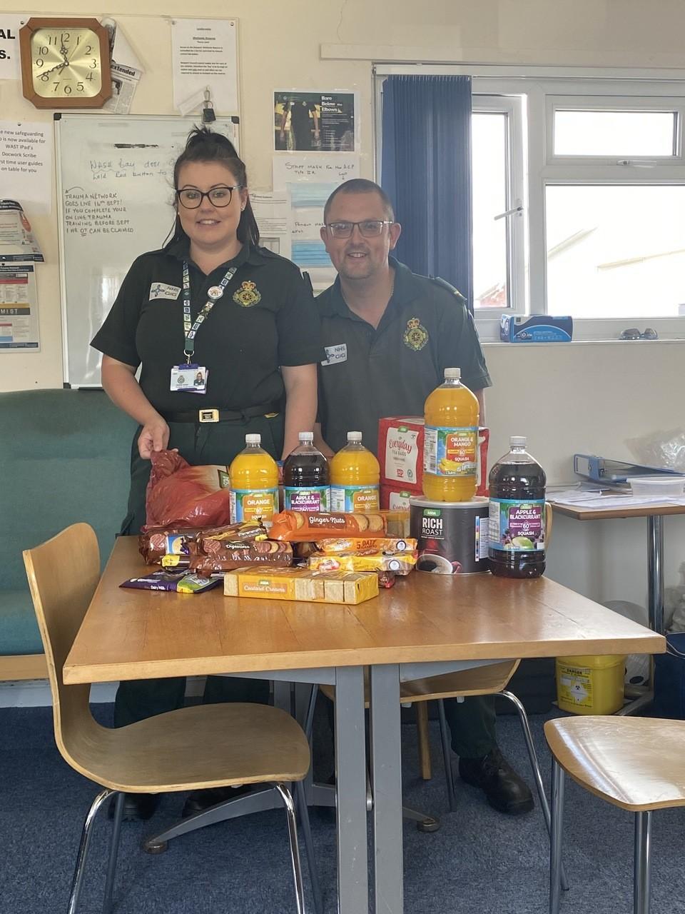 Ambulance station donation | Asda Newport