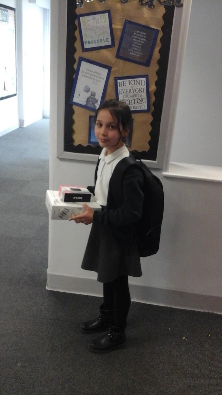 Donation of laptops for Hillside Primary School | Asda Ipswich Stoke Park