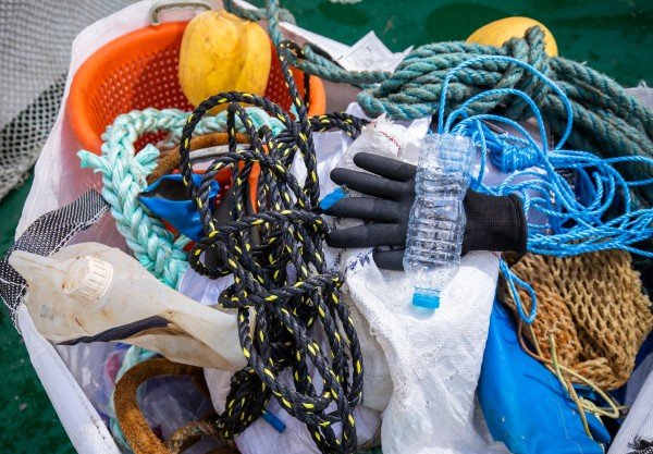 Waste collected through the Fishing for Plastic initiative includes marine waste, as well as everyday plastic items.