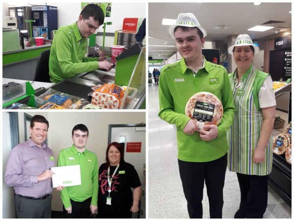 Lewis Morrow has been on work experience at Asda Dundonald