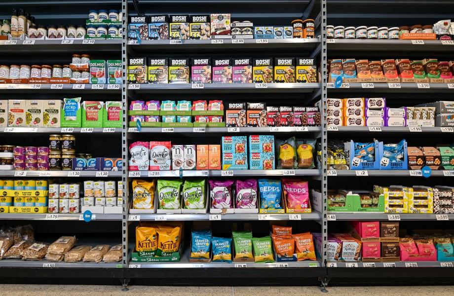 Asda vegan ambient aisle