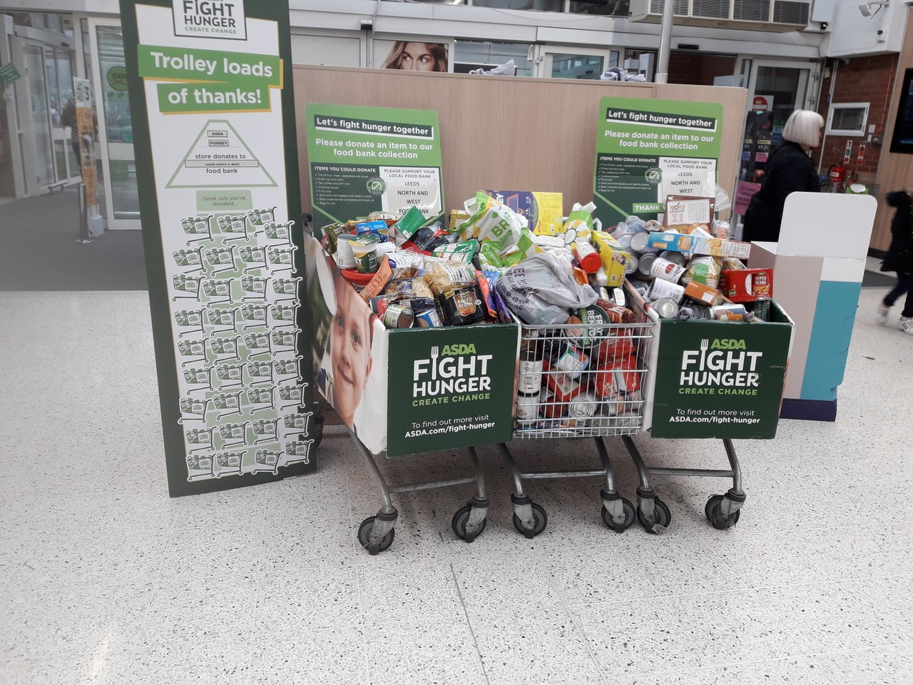 Foodbank trolleys  | Asda Pudsey