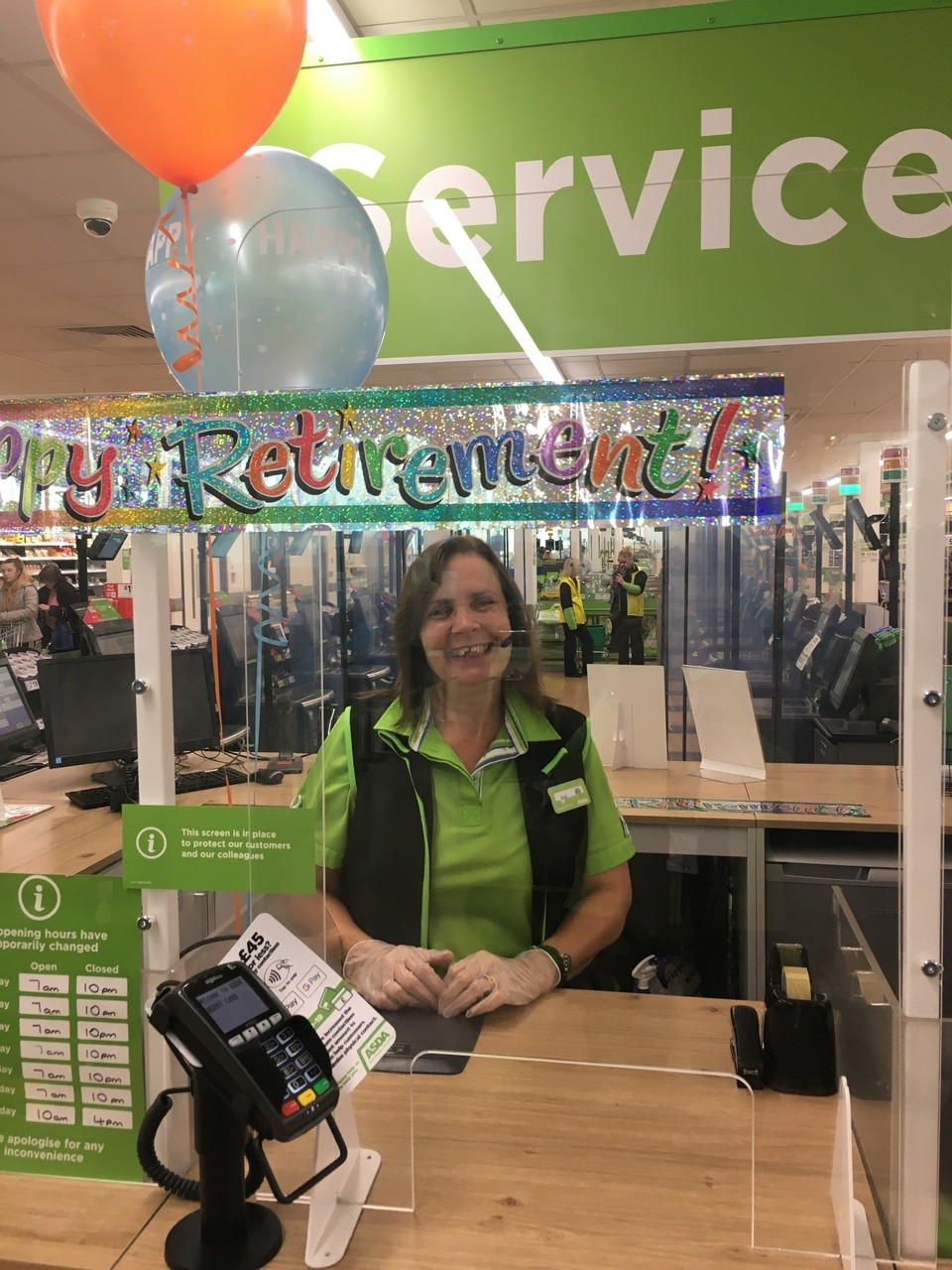 Happy retirement to our customer service colleague Gail | Asda Longwell Green