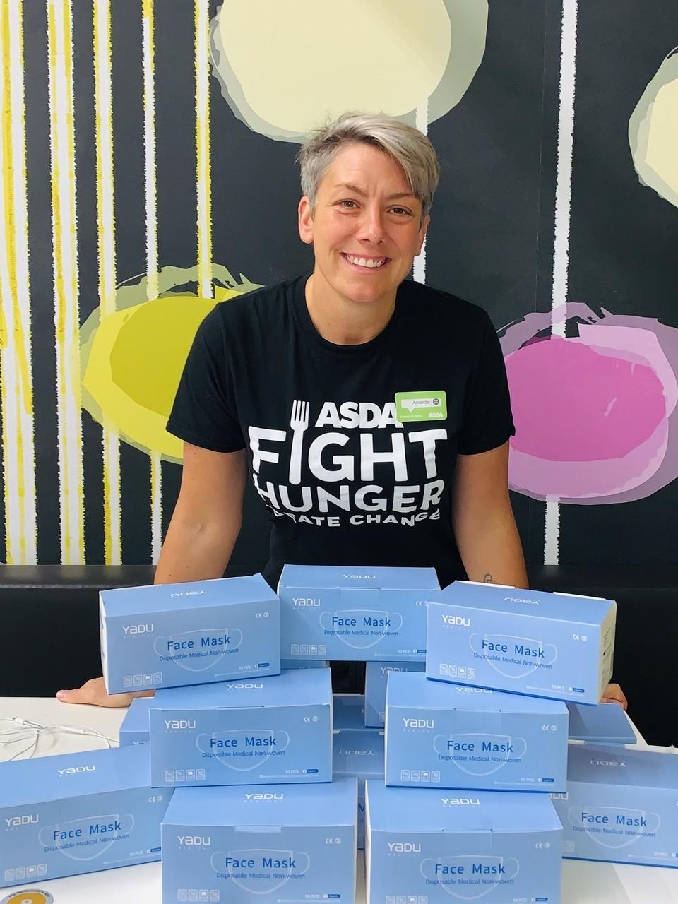 Face mask donation from Asda Halifax | Asda Halifax
