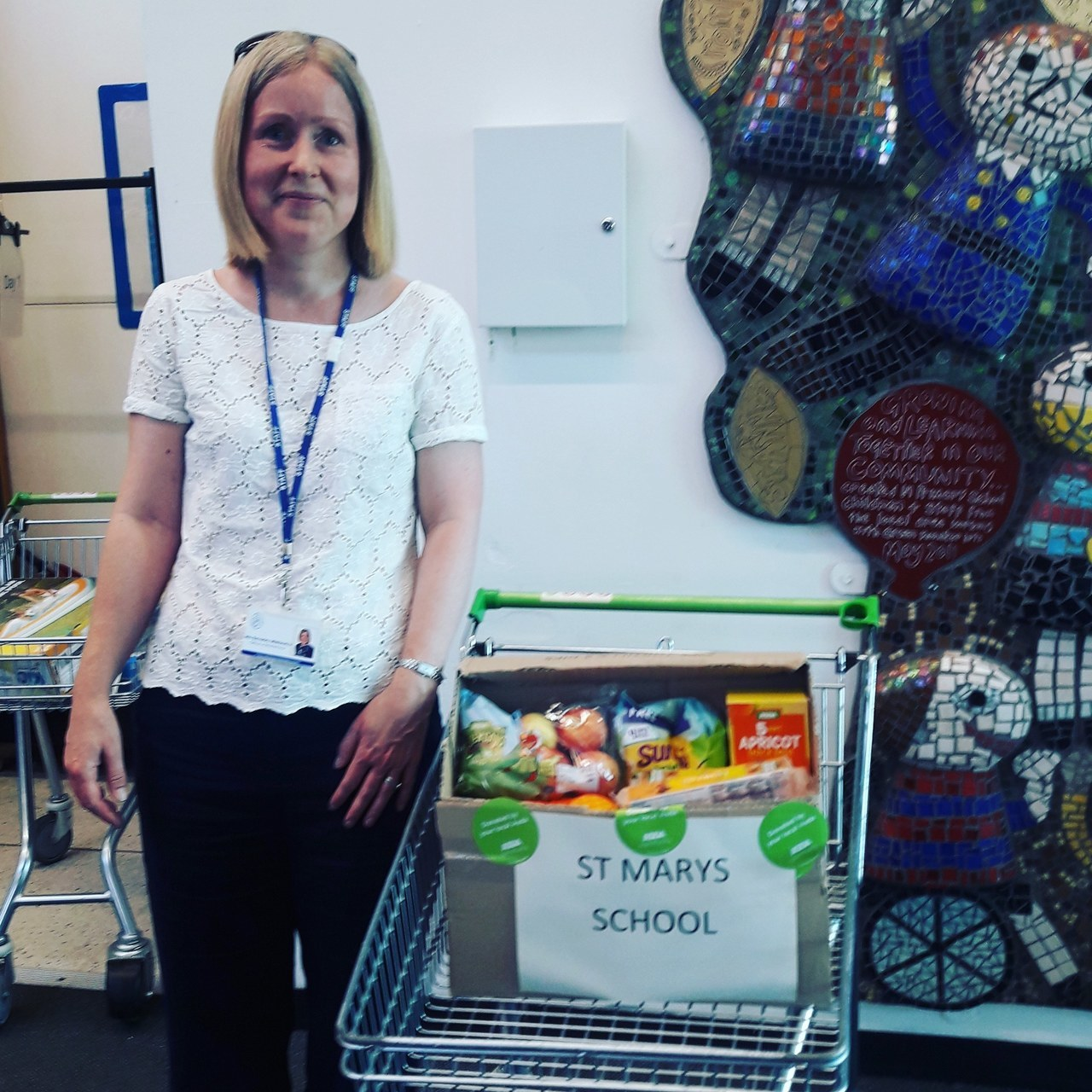 St Mary's School donation | Asda Shaw