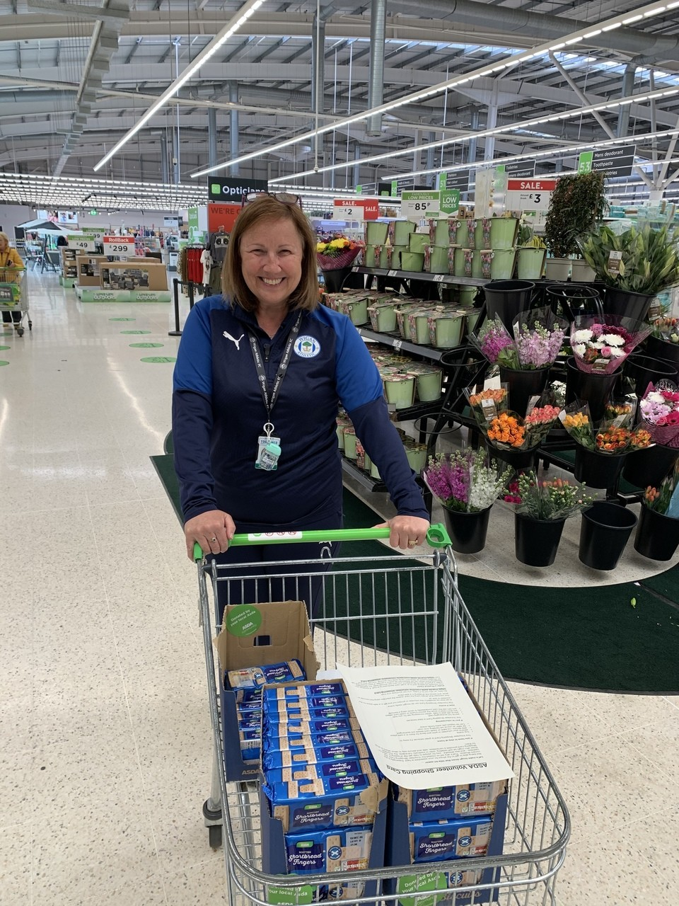Biscuit donation | Asda Wigan