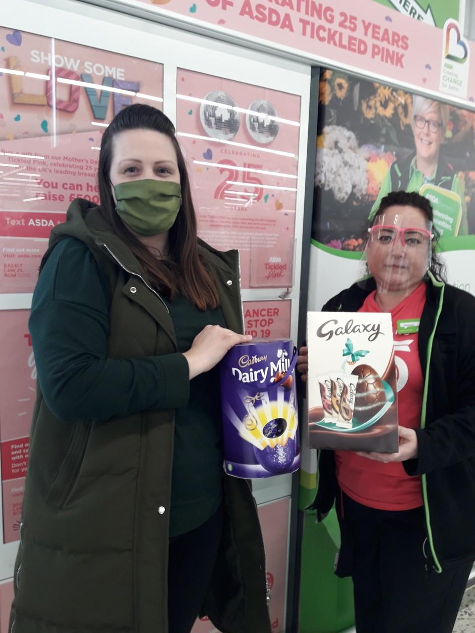 Easter race donation   Asda Roehampton