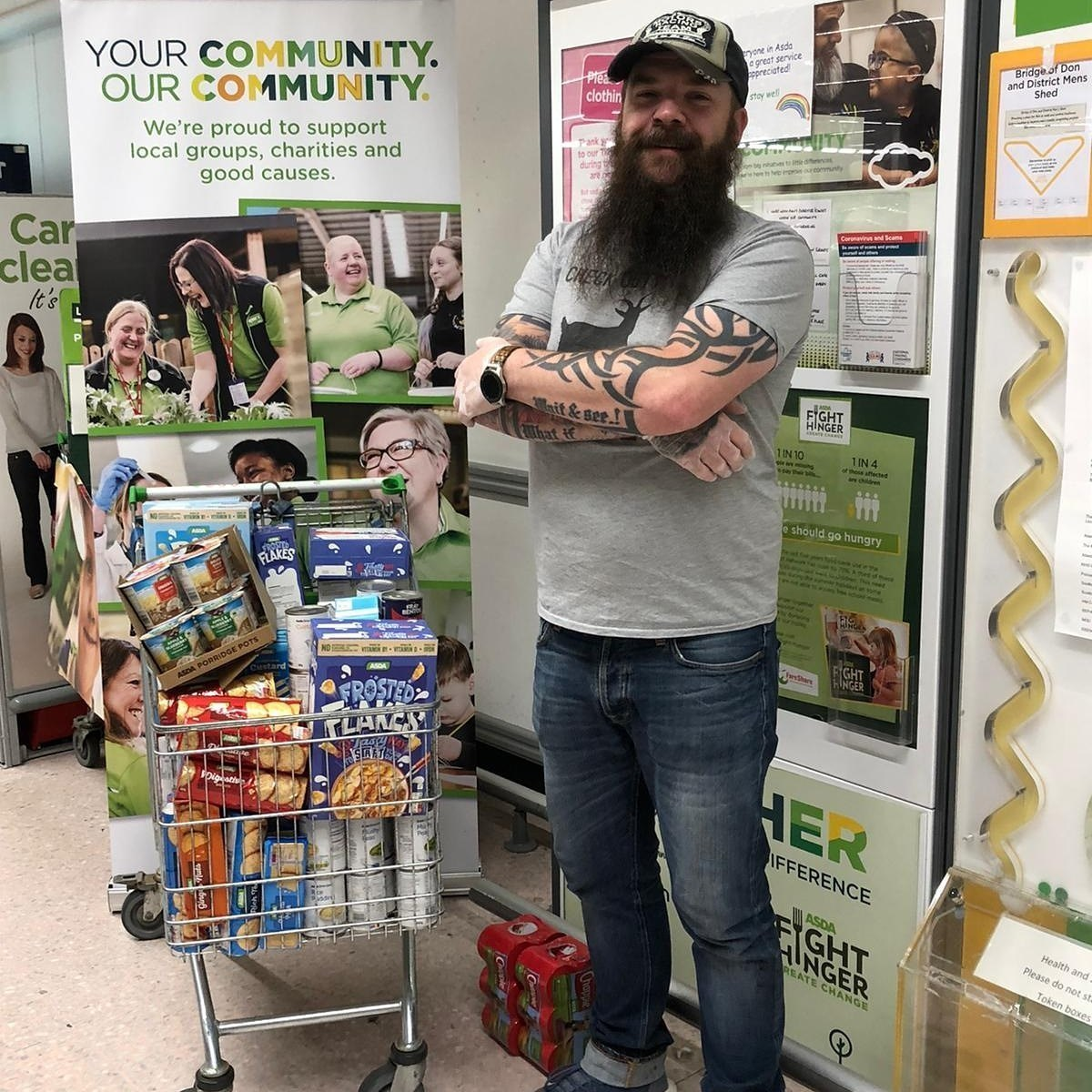 Foodbank donation | Asda Middleton Park