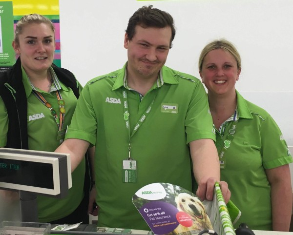 Asda Hull Living colleagues Adam Pinder, Chelsea Oaten and Rachel Smith