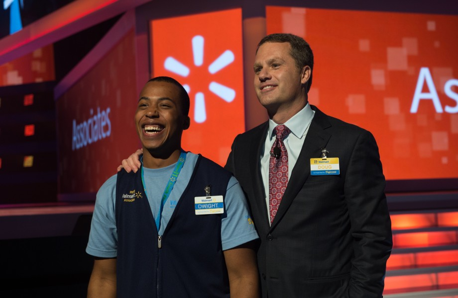Doug McMillon and Associate Dwight at the 2016 Shareholders Meeting