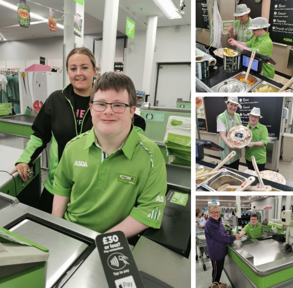 Tor Bank School pupil James enjoys works experience at Asda Dundonald
