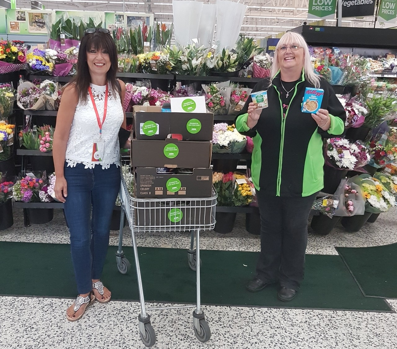 Food donation to The Attic Project | Asda Pilsworth